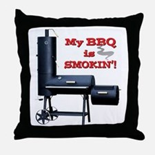 2-MyBBQisSmokin Throw Pillow