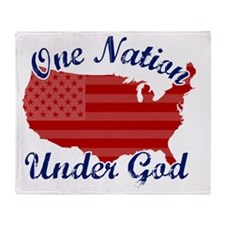 one_nation_under_god Throw Blanket