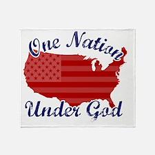 one_nation_under_god Throw Blanket