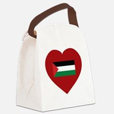 I Love Palestine Canvas Lunch Bag
