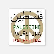 "Peace in Palestine Square Sticker 3"" x 3"""