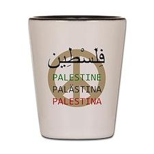 Peace in Palestine Shot Glass