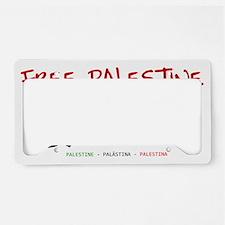 Free Palestine License Plate Holder