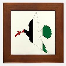 Peace in Palestine Framed Tile