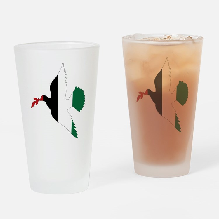 Peace in Palestine Drinking Glass