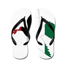 Peace in Palestine Flip Flops