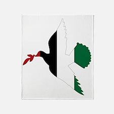 Peace in Palestine Throw Blanket