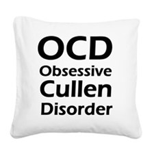aaaaaaocd Square Canvas Pillow