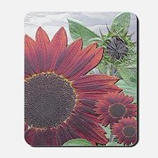 Red Sunflowers 14x10_2_B_large framed pr Mousepad