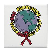 AIDS Awareness Dec 1st Tile Coaster