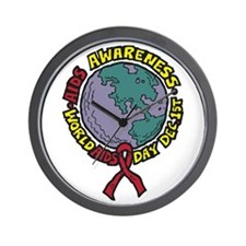AIDS Awareness Dec 1st Wall Clock