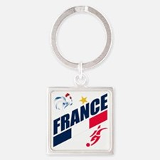 france a Square Keychain