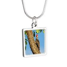 ornament Silver Square Necklace