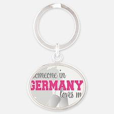 Someone in Germany Oval Keychain