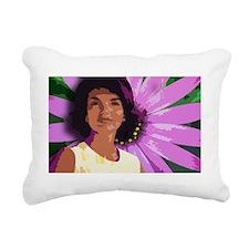 daisy travel mug Rectangular Canvas Pillow