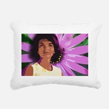 daisy travel mug Rectangular Canvas Pillow