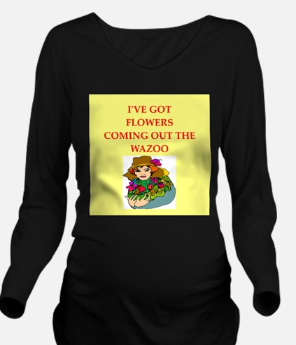 flowers Long Sleeve Maternity T-Shirt