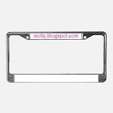 url_pink License Plate Frame