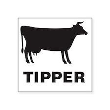 "COW-Tipper Square Sticker 3"" x 3"""