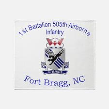 1st Bn 505th ABN Throw Blanket