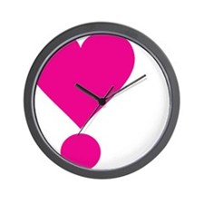 lovedarktshirtpink Wall Clock