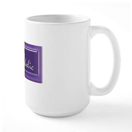 rockaholicstickerborder Large Mug