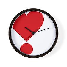 lovetshirtreddark Wall Clock