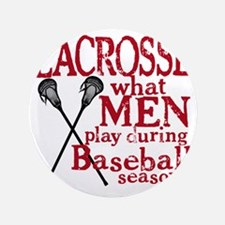 """2-men play lacrosse red 3.5"""" Button"""