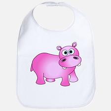 Cute Pink Baby Hippo Bib