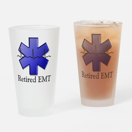 Retired EMT Drinking Glass