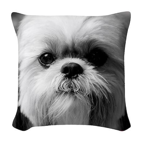Heavenly Shih Tzu Woven Throw Pillow