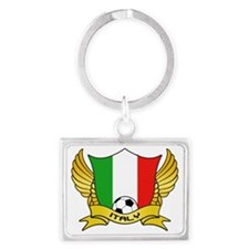 italy-soccer Landscape Keychain