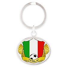 italy-soccer Oval Keychain