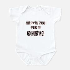 Bird flu pendemic cure Infant Bodysuit
