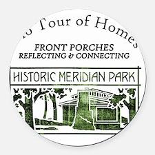 HMP home tour logo green Round Car Magnet