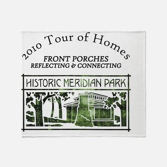 HMP home tour logo green Throw Blanket