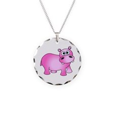 Cute Pink Baby Hippo Necklace