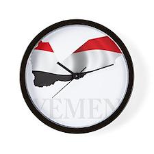 MapOfYemen1Bk Wall Clock