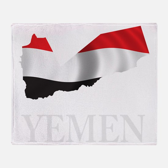 MapOfYemen1Bk Throw Blanket