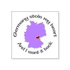"Stole my Heart Germany Square Sticker 3"" x 3"""