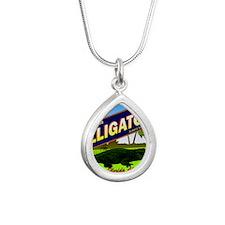VINTAGELABEL Silver Teardrop Necklace