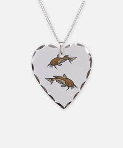 Catfish White To Fish or Not  Necklace