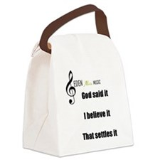 Eden alive logo  God said Canvas Lunch Bag