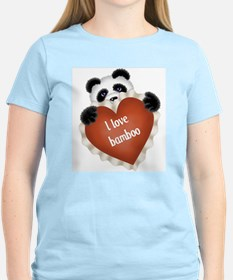 Funny - I love bamboo Women's Pink T-Shirt