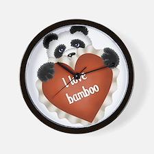Funny - I love bamboo Wall Clock
