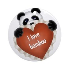 Funny - I love bamboo Ornament (Round)