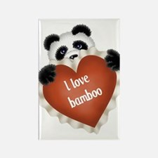 Funny - I love bamboo Rectangle Magnet