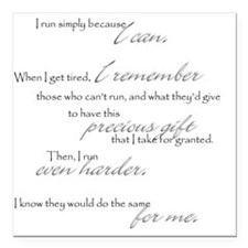 "because I can Square Car Magnet 3"" x 3"""