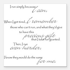 """because I can Square Car Magnet 3"""" x 3"""""""