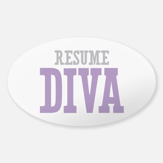 Resume DIVA Sticker (Oval)